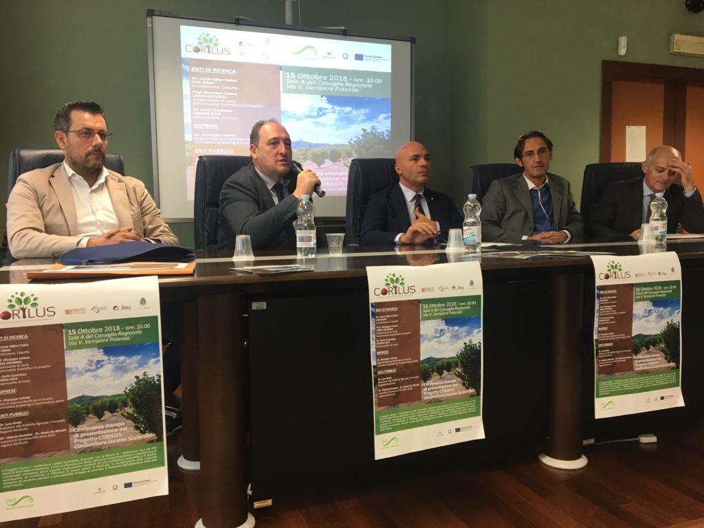Potenza: presentato il progetto Corilus – Corilicultura Lucana Sostenibile