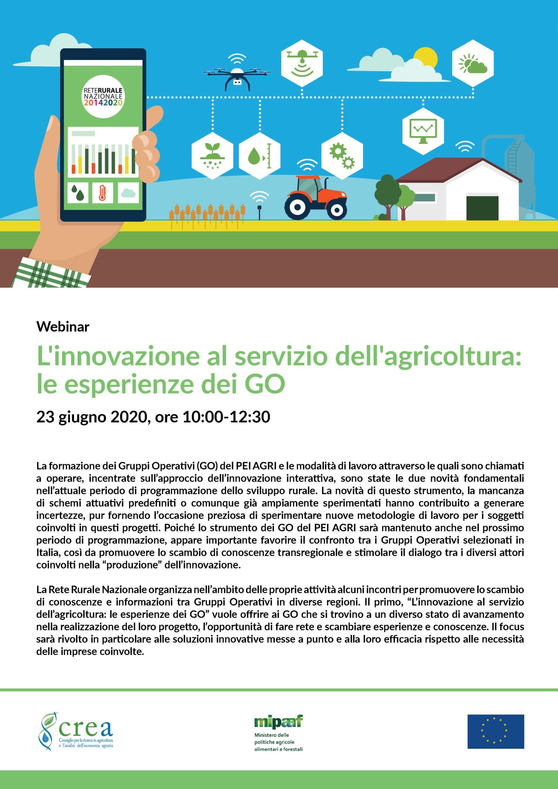 L'INNOVAZIONE AL SERVIZIO DELL'AGRICOLTURA